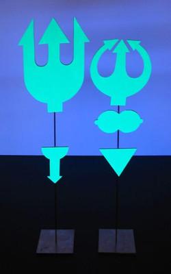 Couple de diablotins turquoises