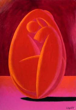 Femme-coco rouge foncé