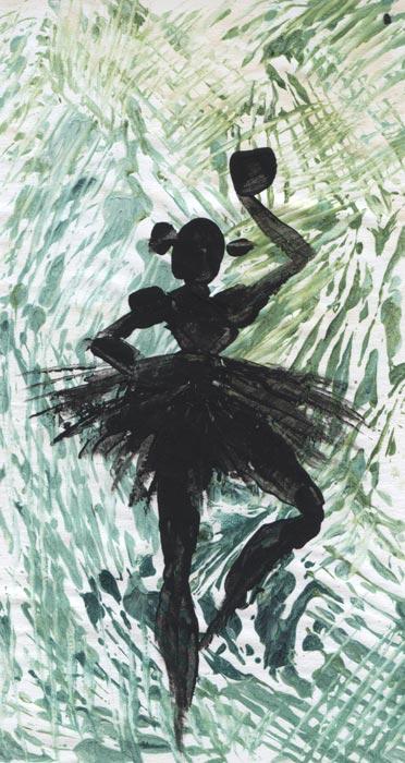 Danseuse verte