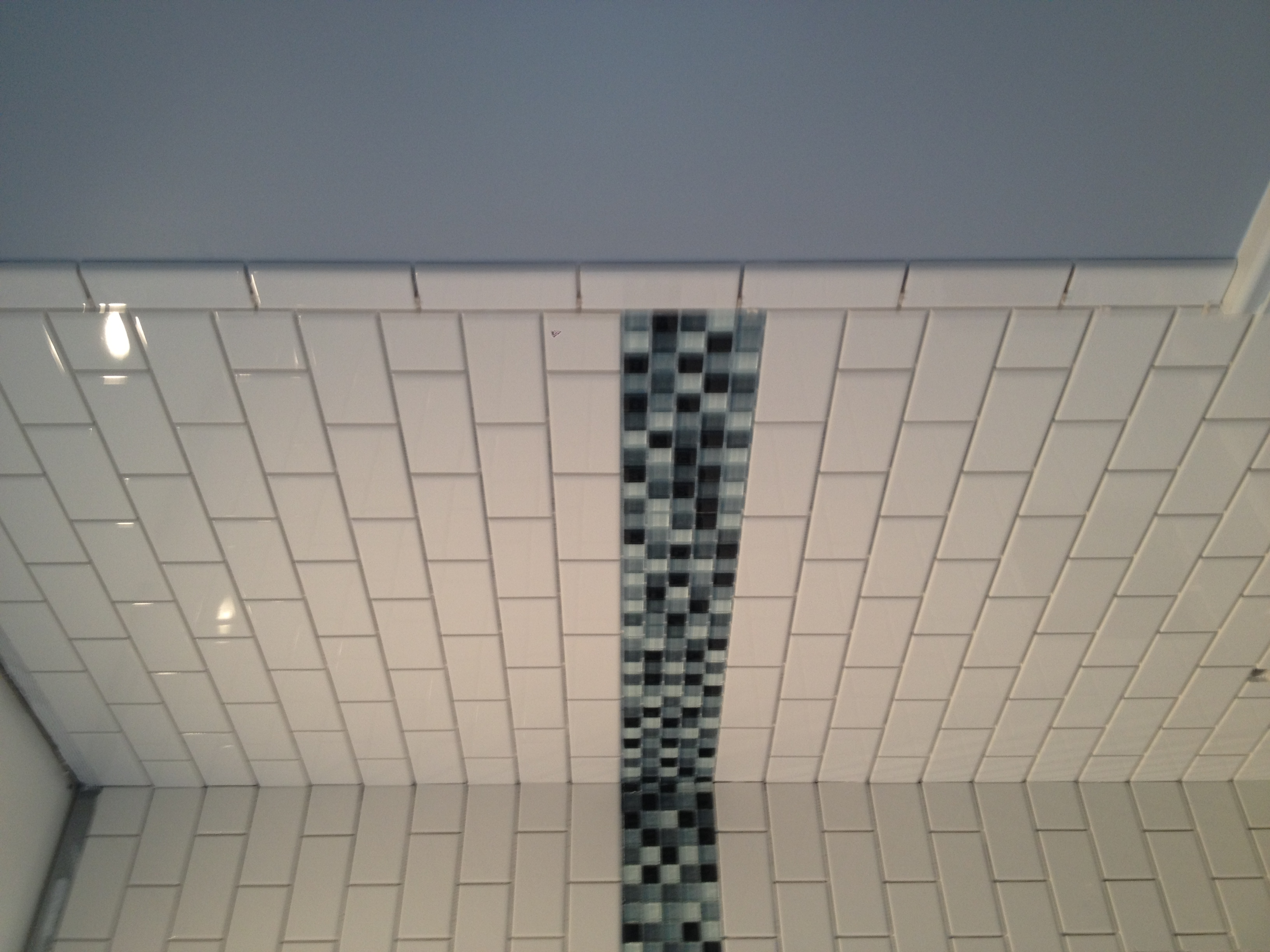 Tile complete,, ready for grout