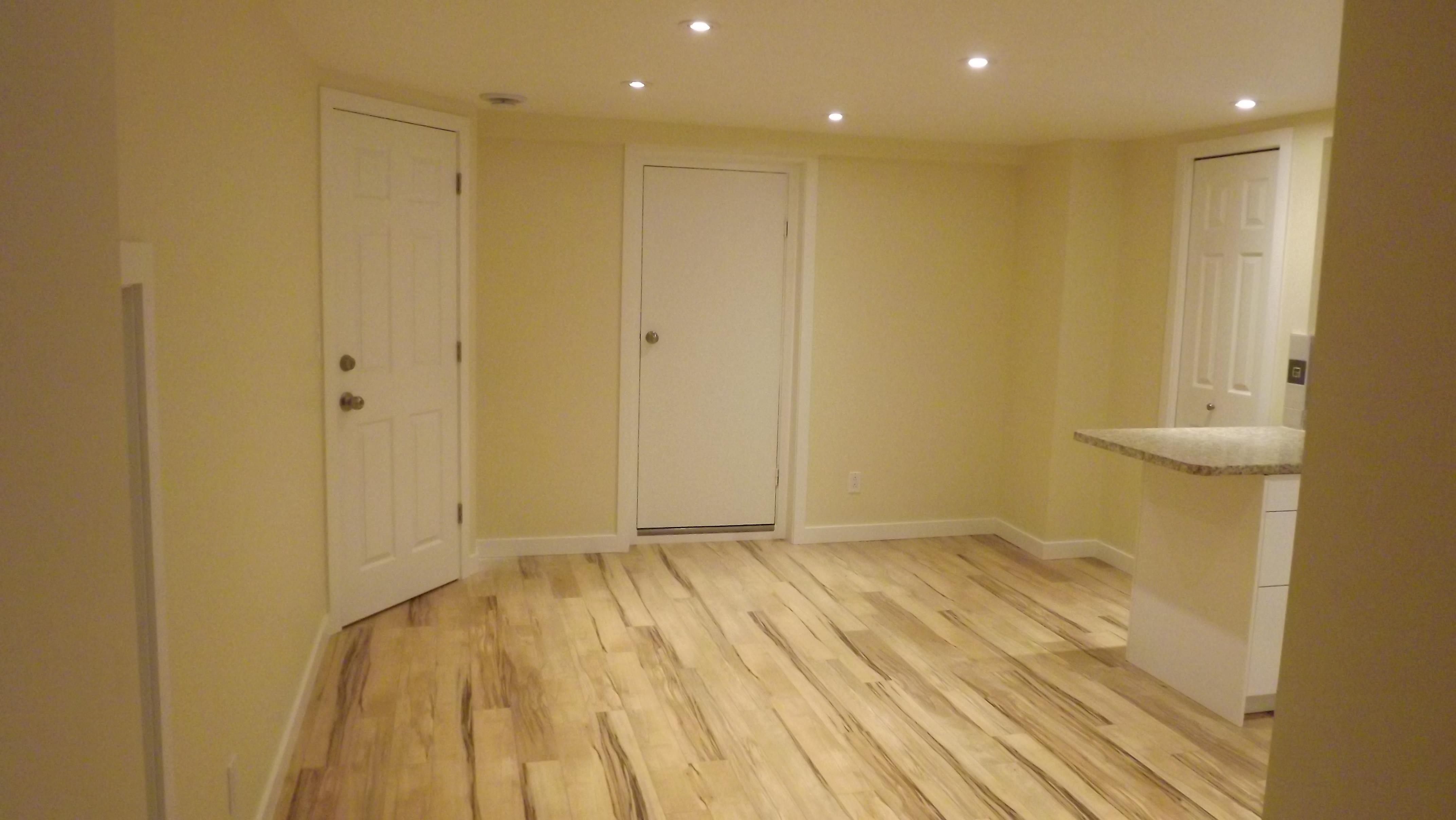 West wall, bedroom door