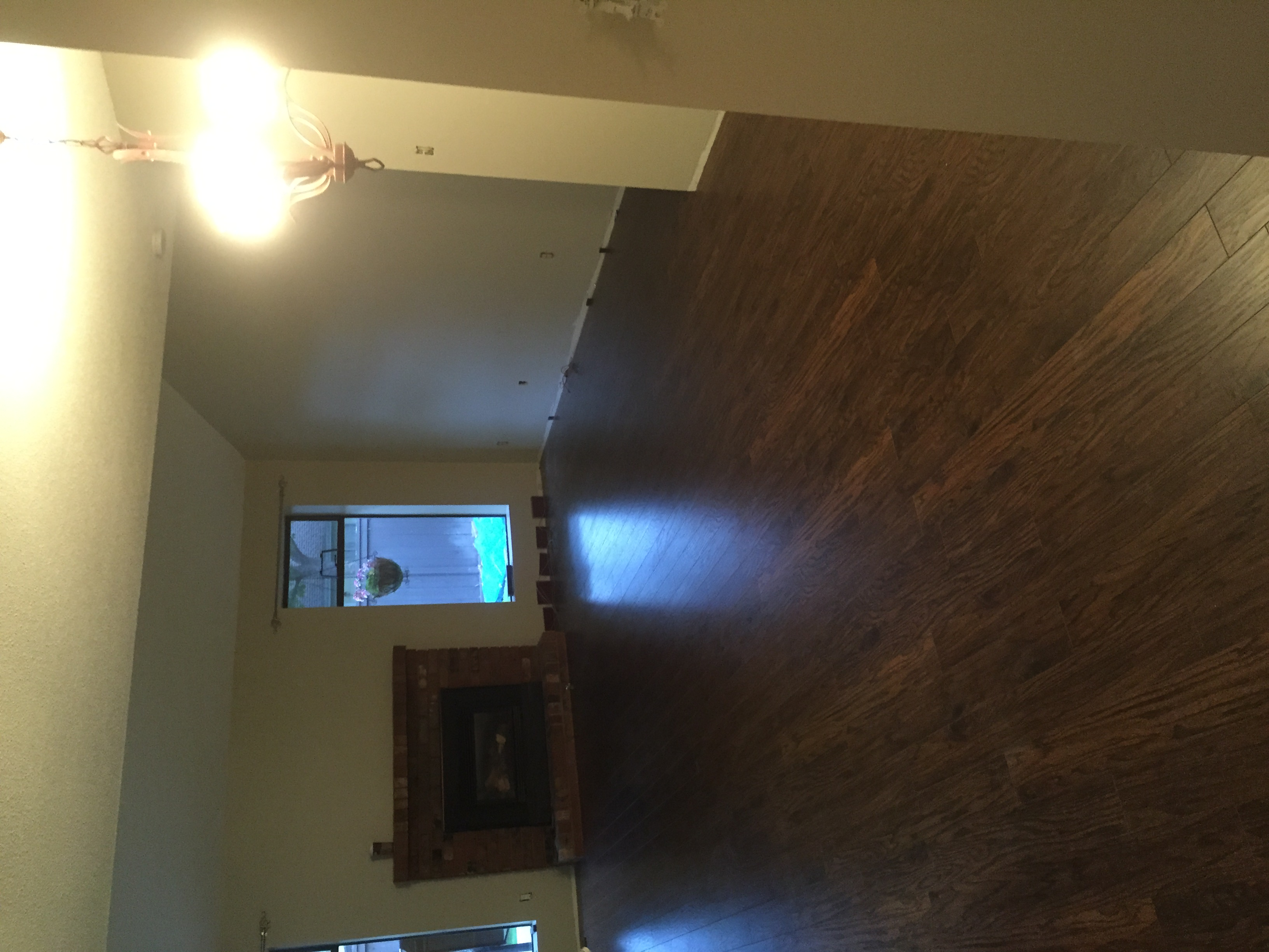 Laminate complete, now Baseboard