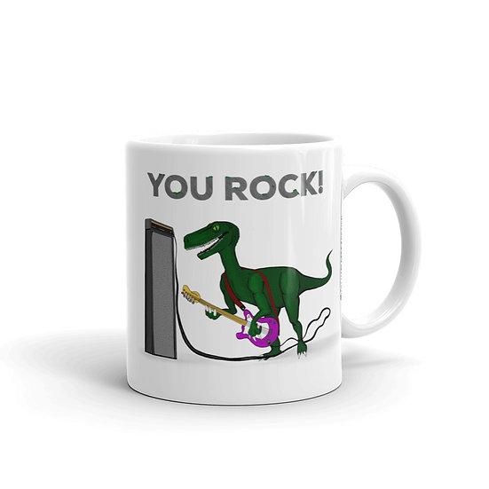 Dino Rock / Glossy Ceramic Mug