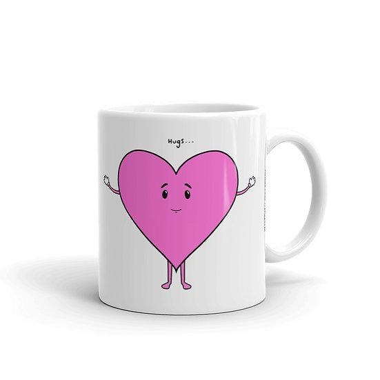 Hugs / Glossy Ceramic Mug