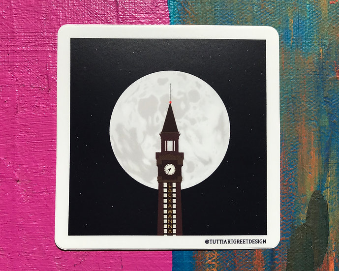 Moon Over Hoboken Sticker