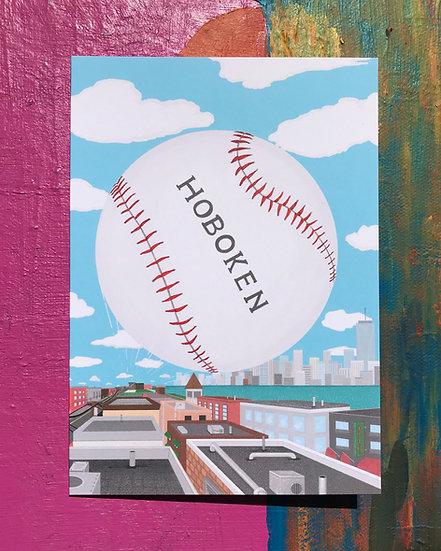 Baseball Town Card