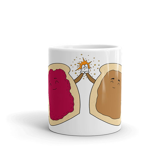 PB & J Forever / Ceramic Glossy Mug