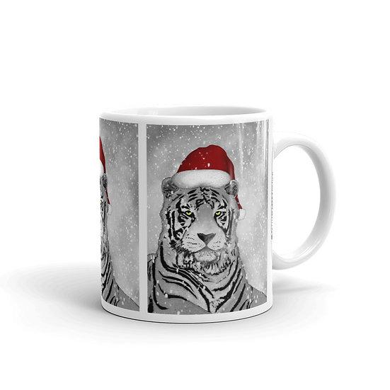 Tiger Santa / Glossy Ceramic Mug