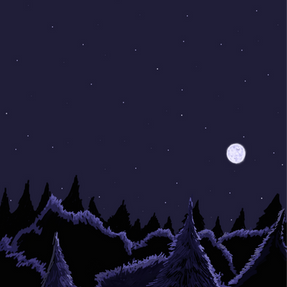 114 - Blue Forest At Night - 3000x4200.P