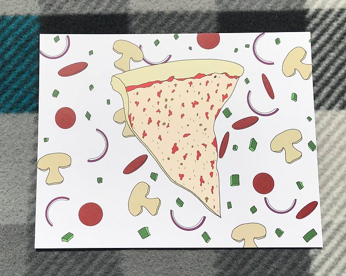 Pizza Party Time Print