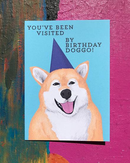 Birthday Doggo Card