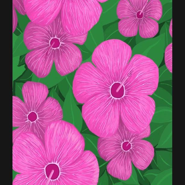 172 - Pink Hawaiian Hibiscus - 720x1080.