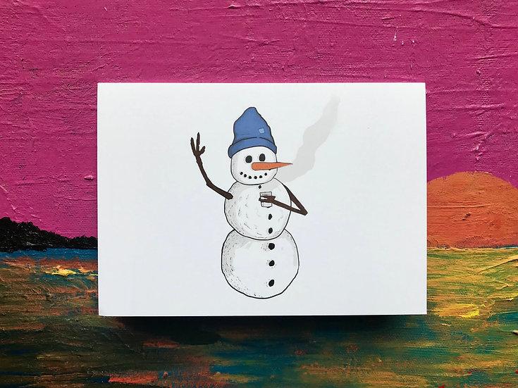 Friendly Snowman Card