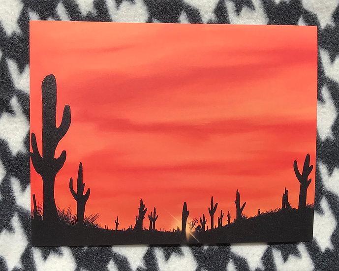 Desert Sunset Print