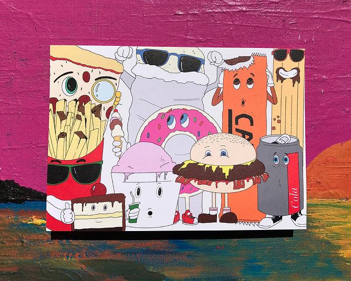 Junk Food Friends Card