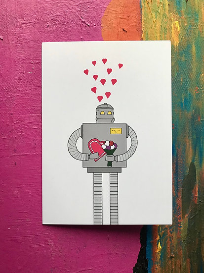 Romantic Robot Card