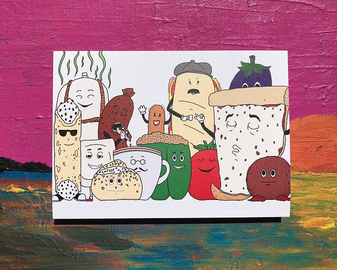 Italian Food Squad Card