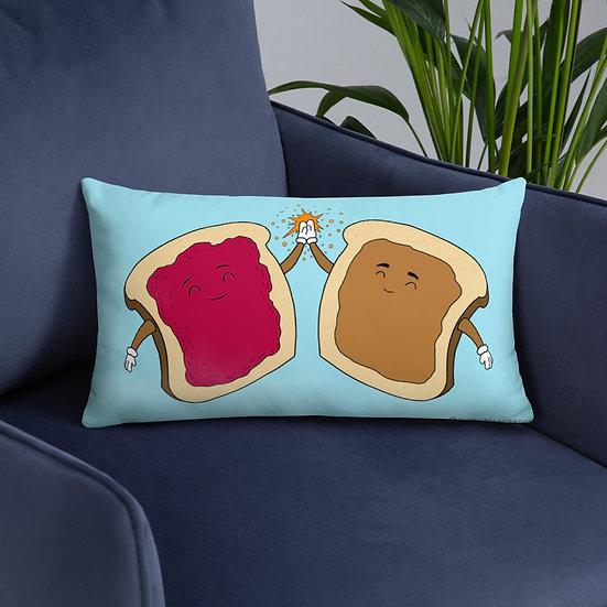 PB & J Forever / Throw Pillow