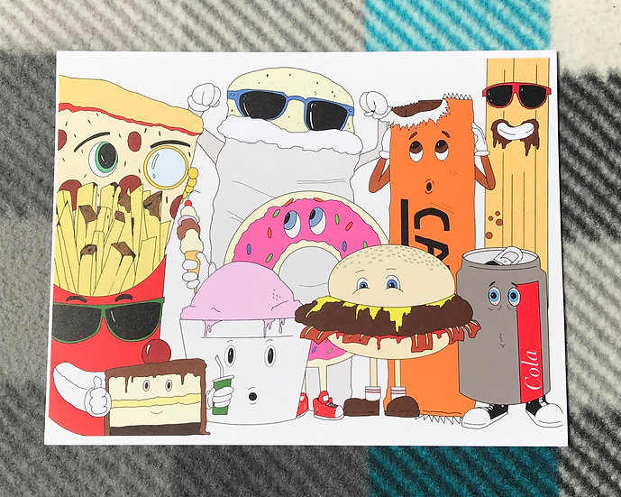 Junk Food Friends Print