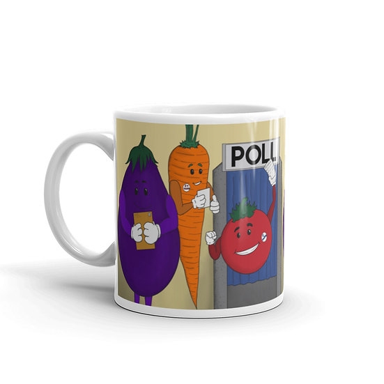 Voting Veggies / Glossy Ceramic Mug