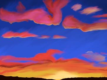 Pink and Orange Sunset