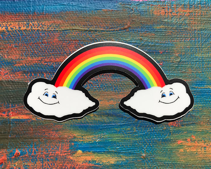 Rainbow Smiles Sticker