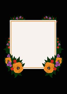 Flower Frame: Orange Violet