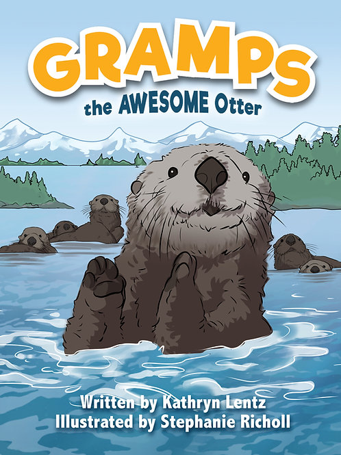 """SIGNED 8 X 10 PAPERBACK BOOK AND 9"""" PLUSH OTTER"""