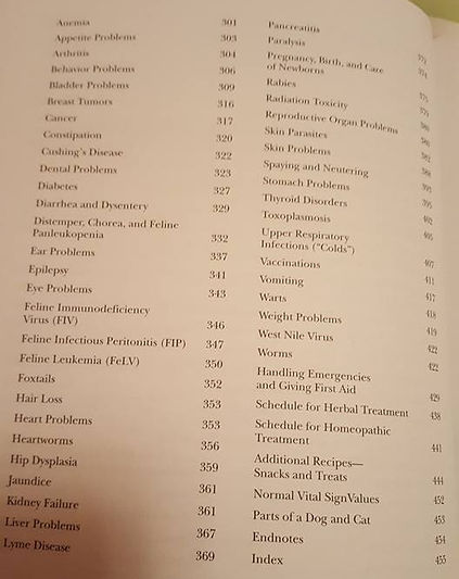 Dr. Pitcairn's Complete Guide to Natural Health for Dogs & Cats Table of Contents 2