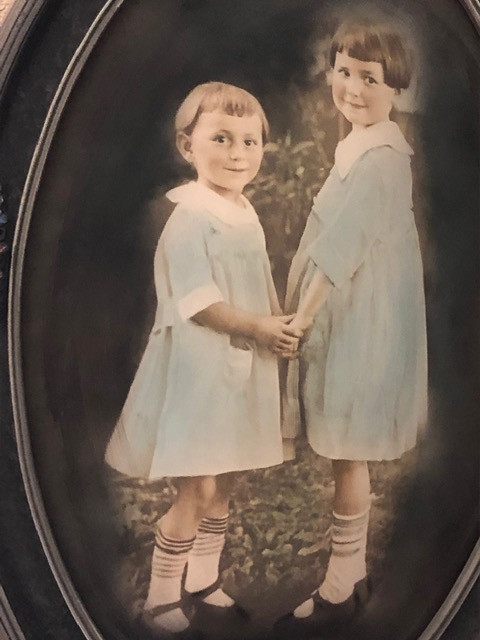 Ms. Florence as a young girl with her older sister Marie.