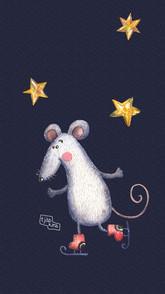 Мышь на коньках