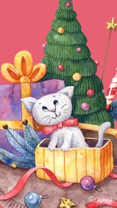 Котёнок под ёлкой