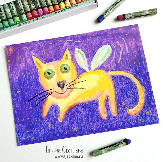 Кот желтый