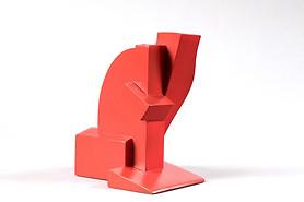 """""""Propuesta Aquitectónica #2"""" Hierro pintado 22 x 16.4 x 18 cms Pieza única Firma grabada: DL 26.10.18"""
