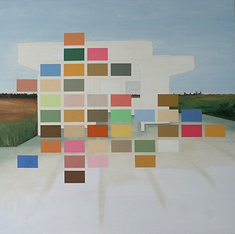"""Espacio Blanco"" Oleo sobre tela 150 x 150 cms 2017 pieza única"