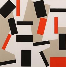 """Cuatro progresiones"" Gouache sobre papel  70 x 70cm (papel)  66 x 66cm (imagen)  Firmada: DL 10.11.13"