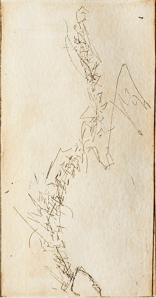 """Backbone II"" Grabado: Agua Fuerte sobre papel de algodón 28.5 x 38 cm. 2010"
