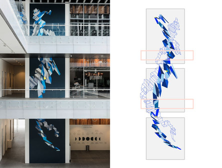 Mural Látex sobre gesso, cada panel 5x3 metros 2016