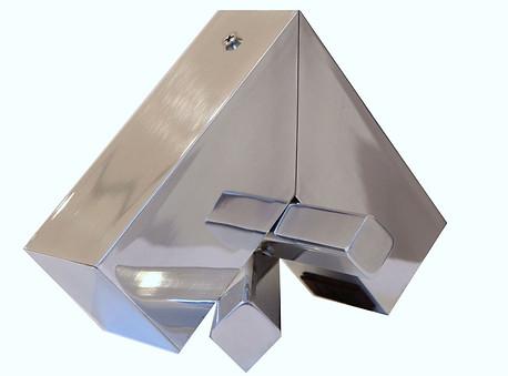 Aluminio pulido a mano por artista Dimensiones variables Pieza única 2016