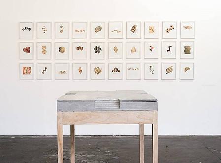 ¨Anatomia Geométrica¨ papel recortado,  impresión digital poiptico, 25 x 30 cada pieza pieza única 2015