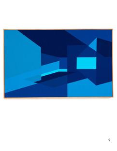 """Tridimencional space as seen through lenses of ephemeral blue"""