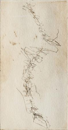 """""""Backbone IV"""" Grabado: Agua Fuerte sobre papel de algodón,  28.5 x 38 cm. 2010"""