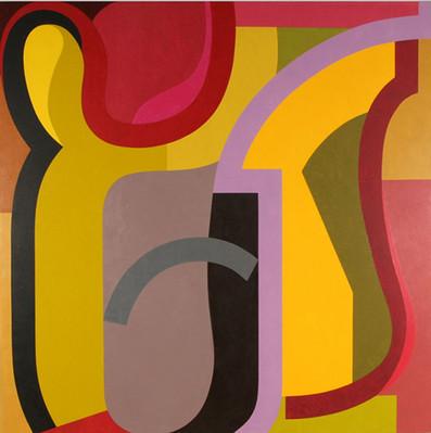 """""""Por la puerta"""" Óleo sobre lino 170 x 170cm 2008"""