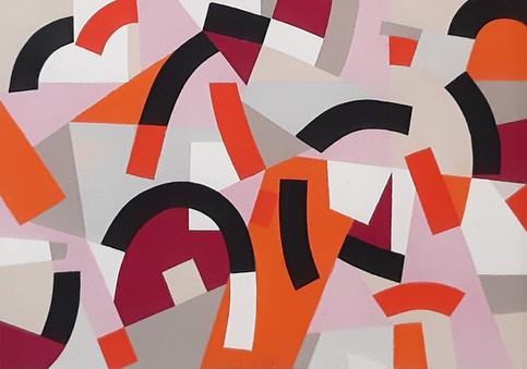 """""""Rose"""" Gouache sobre papel 20.5 x 29 cms Pieza única Firmada DL 22.11.19"""