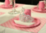 Princess party table setting