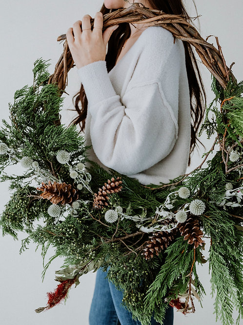Crescent Holiday Wreath