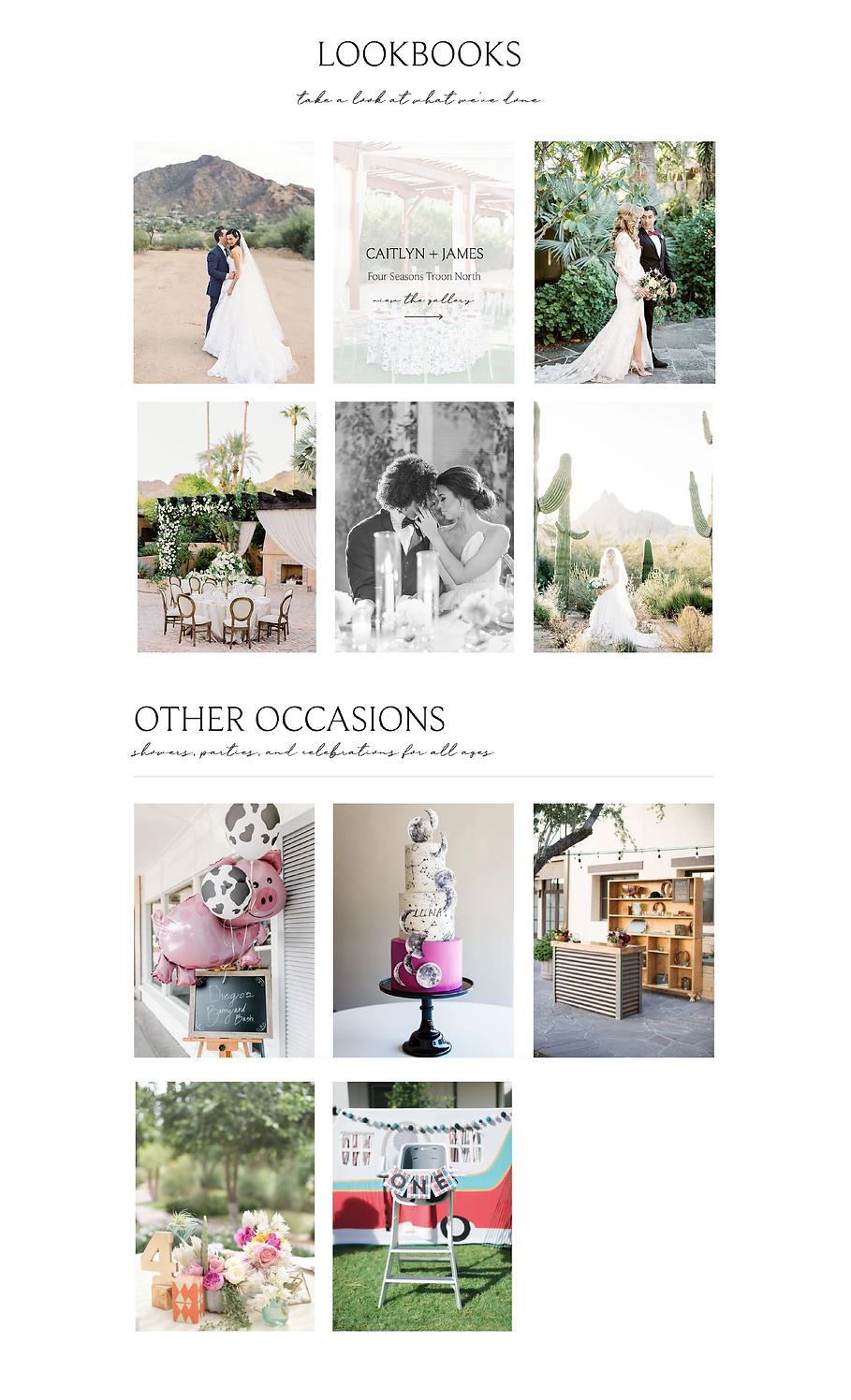 Outstanding Occasions Website Design