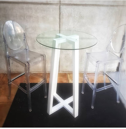 Silla Coctelera Ghost Transparente