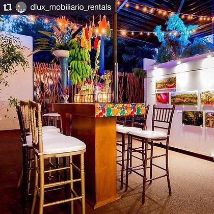 Mesa Coctelera Rectangular Café