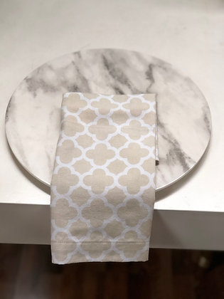 Servilleta Ivory con Blanco